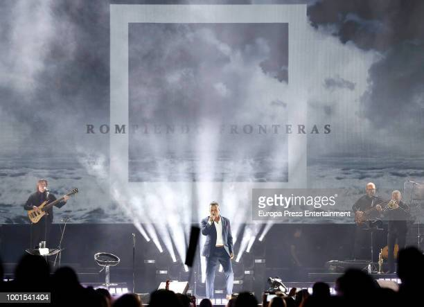 Alejandro Fernandez performs in concert on July 18 2018 in Madrid Spain