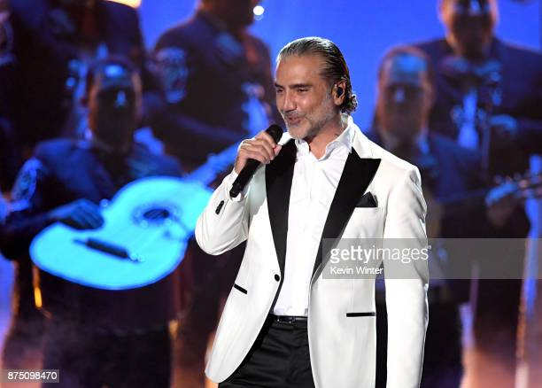 Alejandro Fernandez performs onstage at the 18th Annual Latin Grammy Awards at MGM Grand Garden Arena on November 16 2017 in Las Vegas Nevada