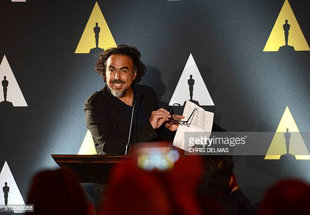 Alejandro G Inarritu attends the 88th Annual Academy Awards Oscar Foreign Language reception in Beverly Hills California on February 26 2016 DELMAS