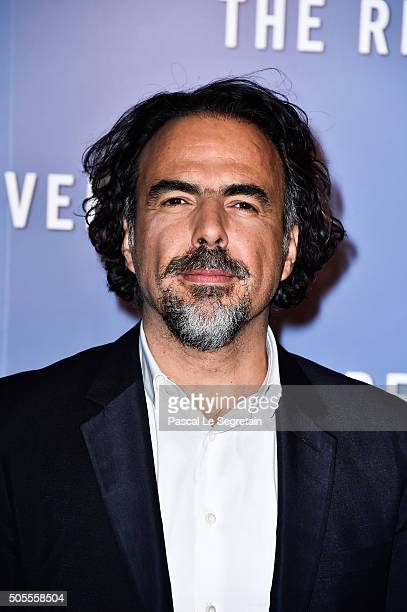 Alejandro G Inarritu attends 'The revenant' Premiere at Le Grand Rex on January 18 2016 in Paris France