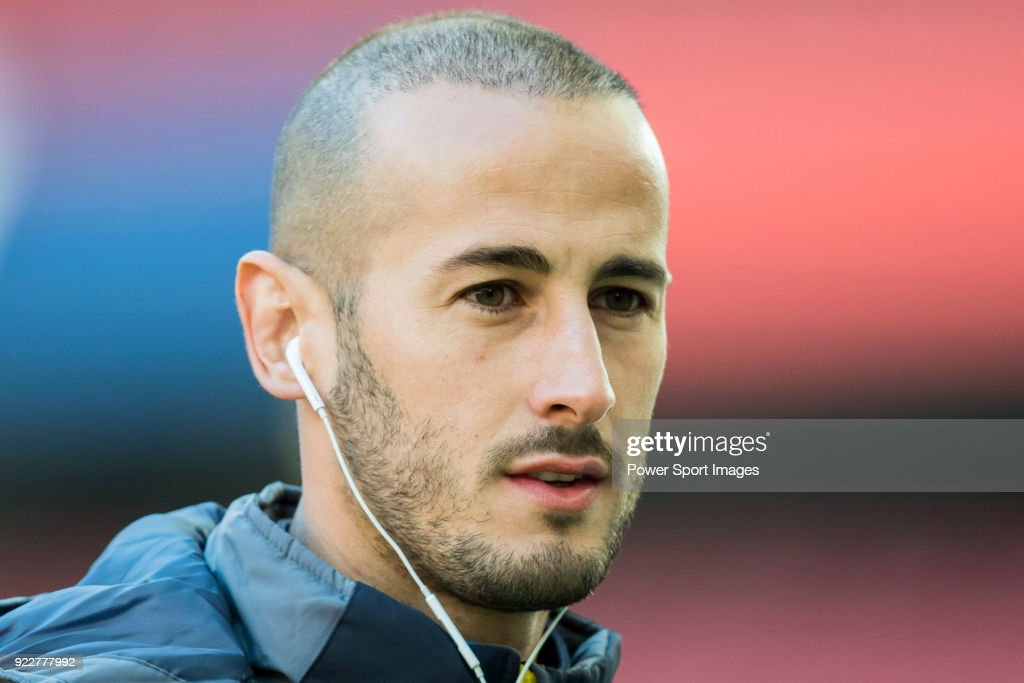 Alejandro Galvez Jimena of UD Las Palmas looks on prior to the La Liga 2017-18 match between Atletico de Madrid and UD Las Palmas at Wanda Metropolitano on January 28 2018 in Madrid, Spain.