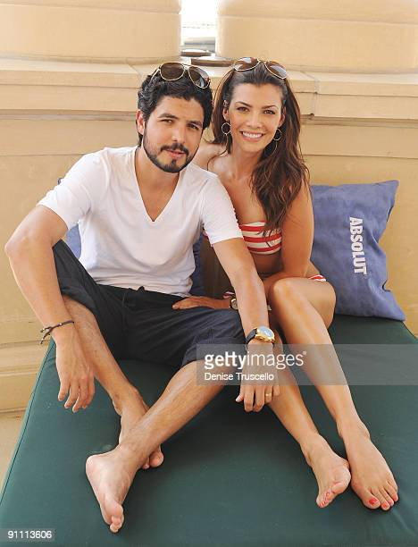 Alejandro Gomez Monteverde and Ali Landry attend Azure on August 8 2009 in Las Vegas Nevada