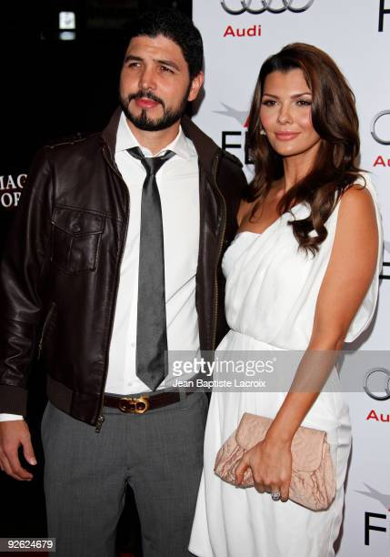 Alejandro Gomez Monteverde and wife Ali Landry arrive at AFI FEST 2009 Screening Of 'The Imaginarium Of Doctor Parnassus' on November 2 2009 in Los...
