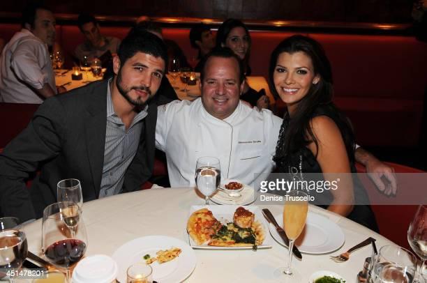 Alejandro Gomez Monteverde Chef Alex Stratta and Ali Landry attend Blush Nightclubs 1 Year Anniversary dinner at STRATTA Restaurant at Wynn Las Vegas...