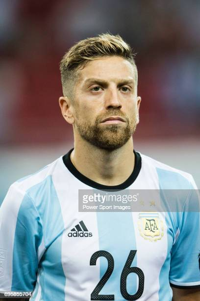 Alejandro Gomez of Argentina during the International Test match between Argentina and Singapore at National Stadium on June 13 2017 in Singapore