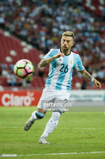 Alejandro Gomez of Argentina in action during the International Test match between Argentina and Singapore at National Stadium on June 13 2017 in...
