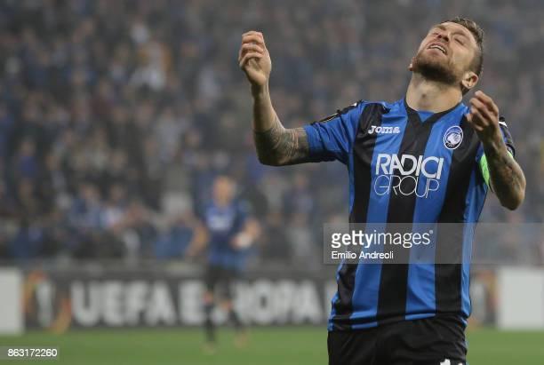 Alejandro Gomez of Atalanta BC gestures during the UEFA Europa League group E match between Atalanta and Apollon Limassol at Mapei Stadium Citta' del...