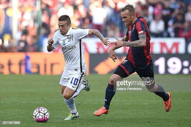 Alejandro Gomez of Atalanta BC in action against Luca Rigoni of Genoa CFC during the Serie A match between Genoa CFC and Atalanta BC at Stadio Luigi...