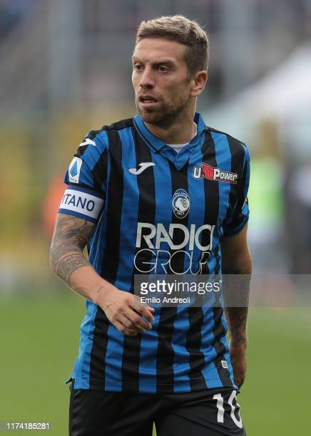 Alejandro Gomez of Atalanta BC looks on during the Serie A match between Atalanta BC and US Lecce at Gewiss Stadium on October 6 2019 in Bergamo Italy