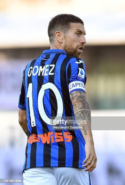 Alejandro Gomez of Atalanta BC looks on during the Serie A match between Parma Calcio and Atalanta BC at Stadio Ennio Tardini on July 28, 2020 in...