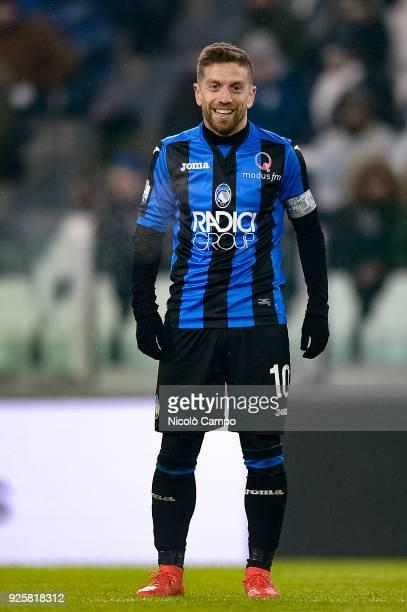 Alejandro Gomez of Atalanta BC smiles during the TIM Cup football match between Juventus FC and Atalanta BC Juventus FC won 10 over Atalanta BC