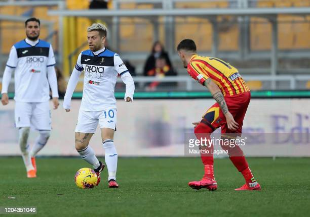 Alejandro Gomez of Atalanta during the Serie A match between US Lecce and Atalanta BC at Stadio Via del Mare on March 1 2020 in Lecce Italy