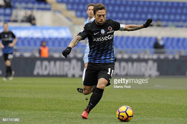 Alejandro Gomez of Atalnta BC in action during the Serie A match between SS Lazio and Atalanta BC at Stadio Olimpico on January 15 2017 in Rome Italy