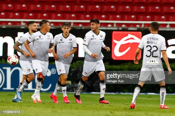 Alejandro Gomez of Atlas celebrates after scoring the second goal of his team during the match between Atlas and Tigres UANL as part of the...