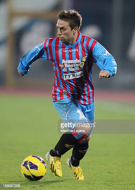 Alejandro Gomez of Catania during the Serie A match between Calcio Catania and Torino FC at Stadio Angelo Massimino on January 5, 2013 in Catania,...