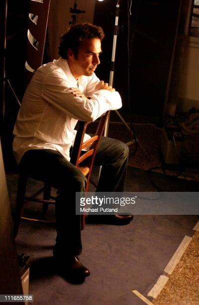 Alejandro Gonzales Inarritu backstage at the 2003 Venice Film Festival
