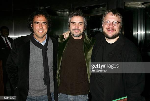 Alejandro Gonzalez Inarritu Alfonso Cuaron and Guillermo Del Toro