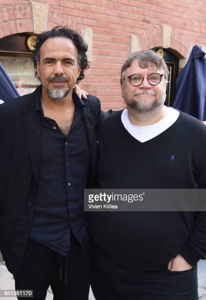 Alejandro Gonzalez Inarritu and Guillermo Del Toro attend the Telluride Film Festival 2017 on September 2 2017 in Telluride Colorado