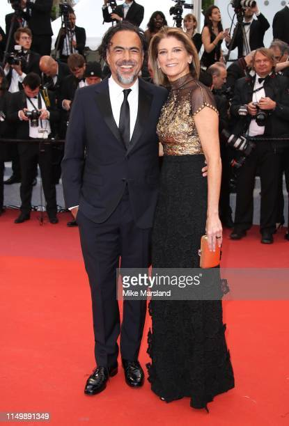 Alejandro Gonzalez Inarritu and María Eladia Hagerman attend the screening of Pain And Glory during the 72nd annual Cannes Film Festival on May 17...