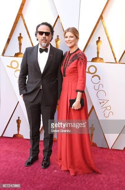 Alejandro Gonzalez Inarritu and Maria Eladia Hagerman attends the 90th Annual Academy Awards at Hollywood Highland Center on March 4 2018 in...