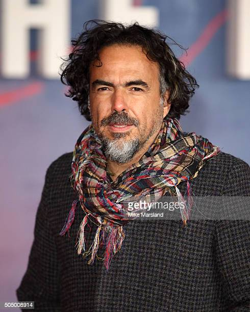 Alejandro Gonzalez Inarritu attends UK Premiere of 'The Revenant' at Empire Leicester Square on January 14 2016 in London England
