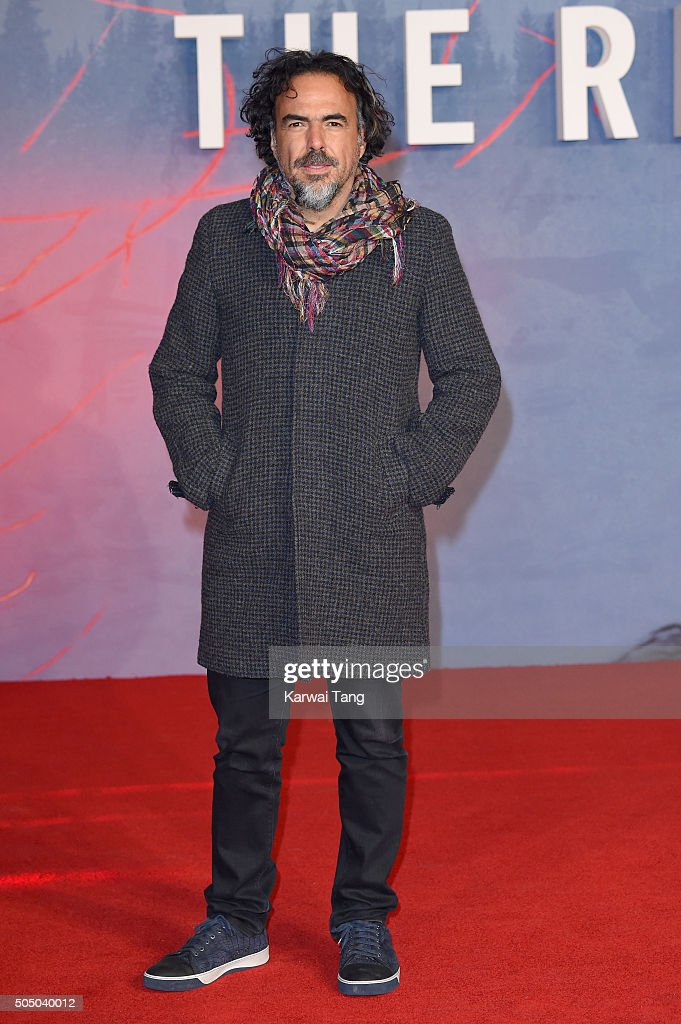 Alejandro Gonzalez Inarritu attends UK Premiere of 'The Revenant' at Empire Leicester Square on January 14, 2016 in London, England.