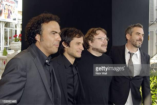 Alejandro Gonzalez Inarritu Gael Garcia Bernal Guillermo Del Toro and Alfonso Cuaron