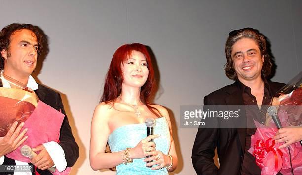 Alejandro Gonzalez Inarritu, Mika Kanou and Benicio Del Toro