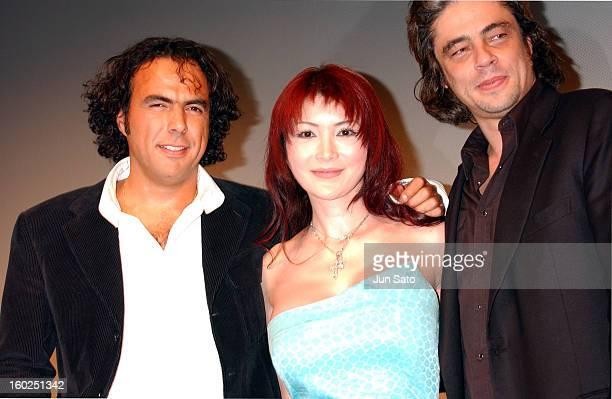 Alejandro Gonzalez Inarritu Mika Kanou and Benicio Del Toro