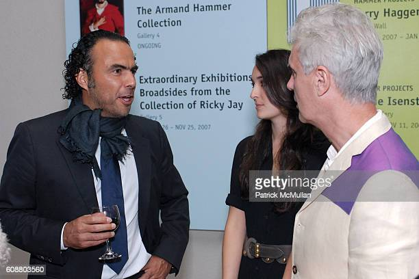 Alejandro González Iñárritu Malu Byrne and David Byrne attend Hammer Museum's Gala in the Garden Honoring Mike Kelley and Miuccia Prada at Hammer...