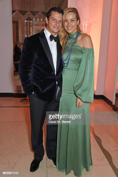 Alejandro Grimaldi and Petra Nemcova attend the BOVET 1822 Brilliant is Beautiful Gala benefitting Artists for Peace and Justice's Global Education...