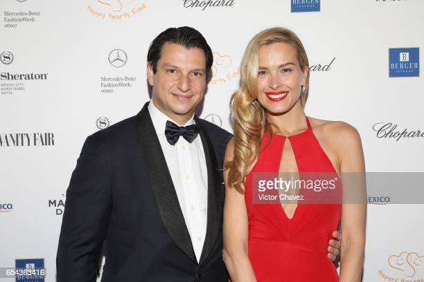 Alejandro Grimaldi and Petra Nemcova attend the Happy Hearts Foundation gala at Sheraton Maria Isabel Hotel Towers on March 16 2017 in Mexico City...