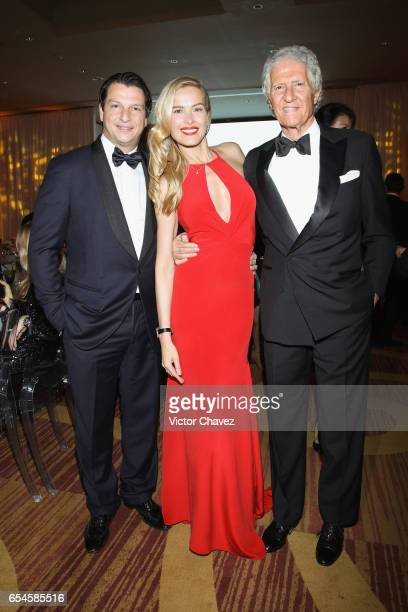 Alejandro Grimaldi Petra Nemcova and Joe Slim attend the Happy Hearts Foundation gala at Sheraton Maria Isabel Hotel Towers on March 16 2017 in...