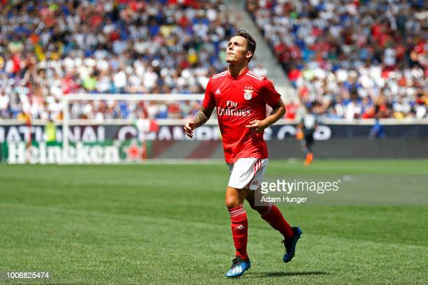 Alejandro Grimaldo of Benfica celebrates scoring a goal against Juventus during the International Champions Cup 2018 match between Benfica and...