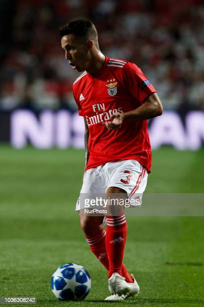 Alejandro Grimaldo of Benfica in action during Champions League 2018/19 match between SL Benfica vs FC Bayern Munchen in Lisbon on September 19 2018