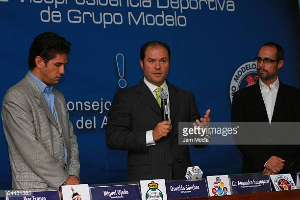 Alejandro Irarragorri President of Santos Laguna and Carlos Fernandez President of Grupo Modelo and Eduardo Vazquez Principal of Water Advisory...