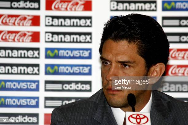 Alejandro Irarragorri President of Santos Laguna during the press conference to announce the friendly match Mexico v North Korea at FEMEXFUT on...