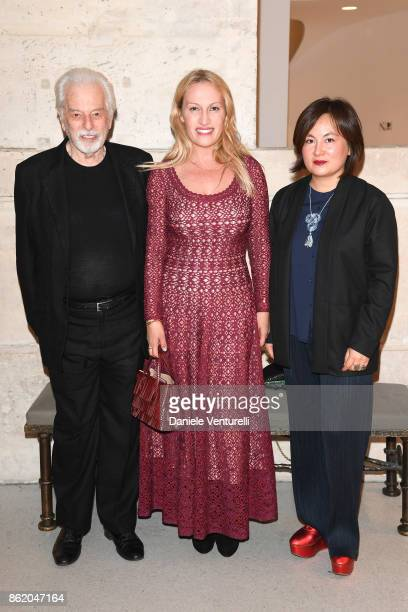Alejandro Jodorowsky and his wife Pascale MontandonJodorowsky attend a cocktail in honour of Diana Widmaier Picasso and Alexander SC Rower awarded...