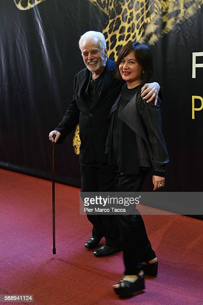 Alejandro Jodorowsky and Pascale Jodorowsky attend the Pardo of Honor during the 69th Locarno Film Festival on August 12 2016 in Locarno Switzerland