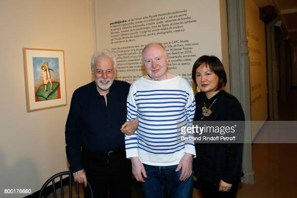 Alejandro Jodorowsky Artist Christophe Von Weyhe and Pascale MontandonJodorowsky attend the 'pascALEjandro L'Androgyne Alchimique' Exhibition's Book...