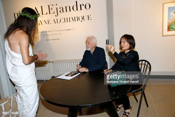 Alejandro Jodorowsky Pascale MontandonJodorowsky and guest 'Jesus' attend the 'pascALEjandro L'Androgyne Alchimique' Exhibition's Book Signing at...