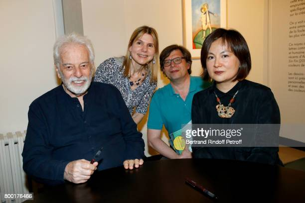 Alejandro Jodorowsky Philippe Rouyer with his wife and Pascale MontandonJodorowsky attend the 'pascALEjandro L'Androgyne Alchimique' Exhibition's...