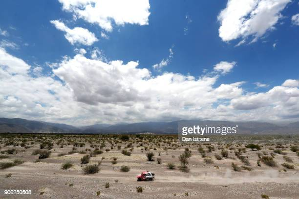 Alejandro Miguel Yacopini of Argentina and Toyota drives with codriver Marco Scopinaro of Argentina in the Hilux Toyota car in the Classe T11 4x4...
