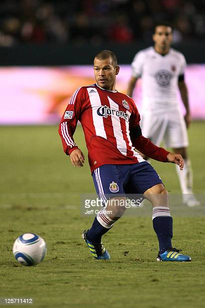 Alejandro Moreno of Chivas USA watches his pass against DC United at The Home Depot Center on September 10 2011 in Carson California