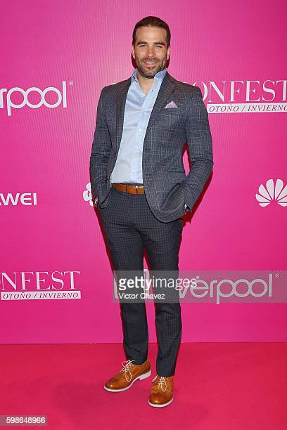 Alejandro Nones attends the Liverpool Fashion Fest Autumn/Winter 2016 at Televisa San Angel on September 1 2016 in Mexico City Mexico