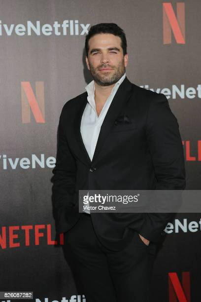 Alejandro Nones attends the Vive Netflix 2017 at Museo Casa de la Bola on August 2 2017 in Mexico City Mexico