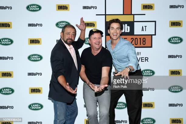 "Alejandro Patino, director John Butler and Matt Bomer of ""Papi Chulo"" attend The IMDb Studio presented By Land Rover At The 2018 Toronto..."