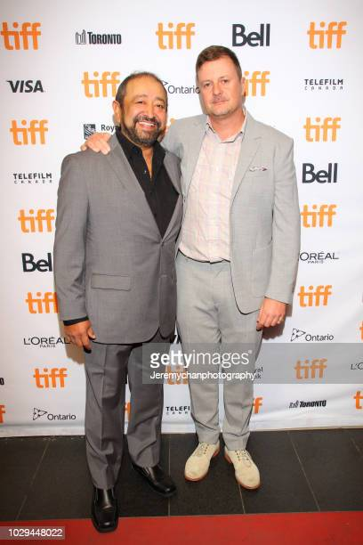 Alejandro Patiño and John Butler attend the Papi Chulo Premiere during 2018 Toronto International Film Festival at TIFF Bell Lightbox on September 8...