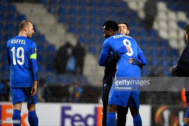Alejandro Pozuelo midfielder of KRC Genk during the Europa League second leg round of 32 game between KRC Genk and FC Astra Giurgiu on February 23...