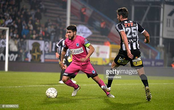Alejandro Pozuelo midfielder of KRC Genk pictured during Jupiler Pro League match between RCS Charleroi and KRC GENK on October 26 2016 in Charleroi...